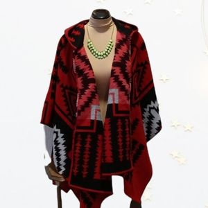 Parsley and Sage accessory red cape one size